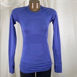 Swiftly Tech Long Sleeve Pigment Blue - Run 4
